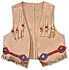 A child's fringed cowboy style vest, popular in the 1950s.