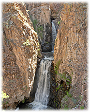 Beautiful Nambe Falls in Northern New Mexico.