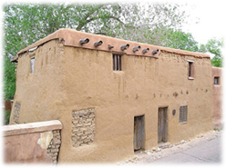 The Oldest House in America, in Santa Fe, New Mexico.