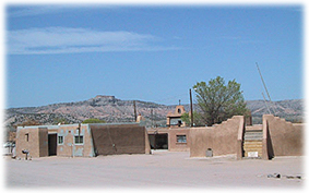 The San Ildefonso Pueblo, located in Northern New Mexico.