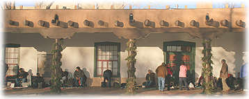Santa Fe's Palace of the Governors plays host to Native Americans who sell their handcrafted goods under its portal.