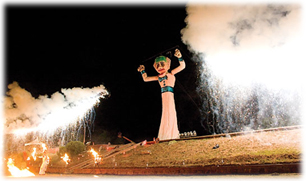 The burning of Old Man Gloom, also called Zozobra, in Santa Fe, New Mexico.
